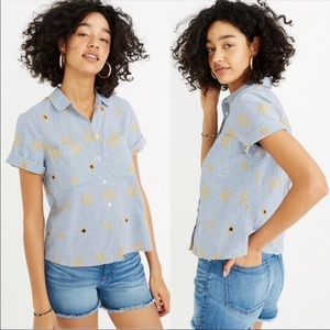 Madewell Star Embroidered Button Down NWT